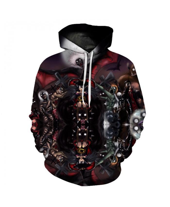 Ghost Shadow 3D Print Hoodies Men Hoody Harajuku Hoodie Streatwear Sweatshirt Tracksuit Pullover Hip Hop Dropship