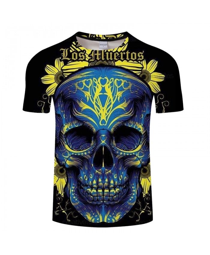 Girly Skull 3D t shirt Men tshirt Summer Tees Short Sleeve T-Shirt Casual Top Funny Tees Camiseta Streatwear DropShip