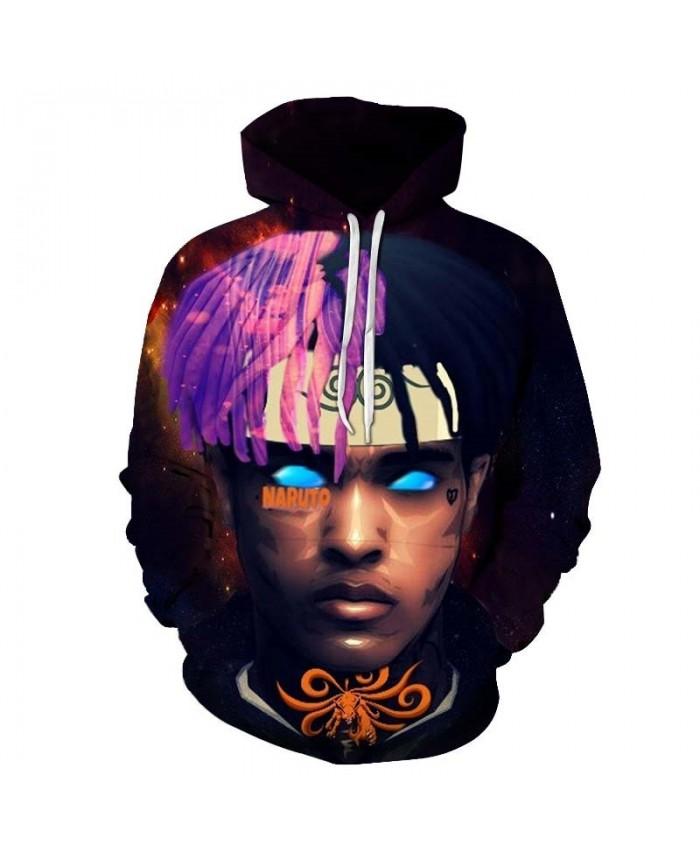 Glossy Facial Features Mens Pullover hoodies Streetwear Sweatshirt Sportsuit Fashion Hoodie New Long Sleeve Men