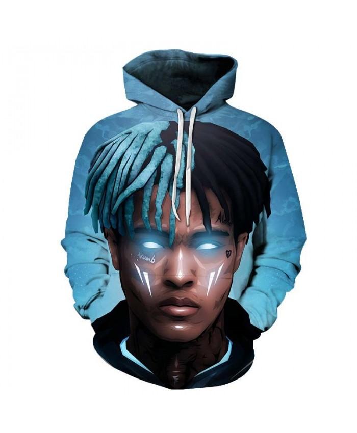 Glowing Blue Eyes Mens Pullover hoodies Streetwear Sweatshirt Casual Hoodie New 2019 New Long Sleeve Men