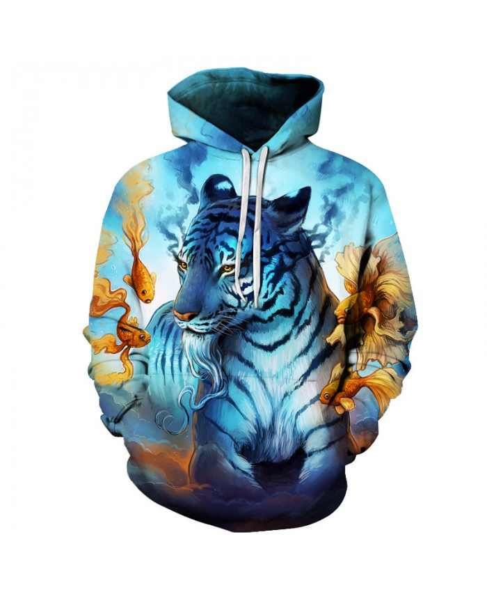 God Tiger Printed 3D Hoodies 6XL Sweatshirts Men Women Pritned Tracksuits Fashion Pullover Casual Brand Outwear Male Jackets