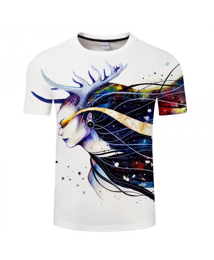 Goddess of the galaxy by Pixie cold Art Funny T shirts Men 3D T-shirts Camisetas Hombre Brand Tshirts Summer Tops TEES