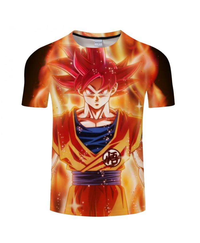 Goku Warrior 3D Print T shirt Men Women Dragon Ball Summer Anime Short Sleeve Boy Tops&Tees Tshirt Hip Hop Drop Ship