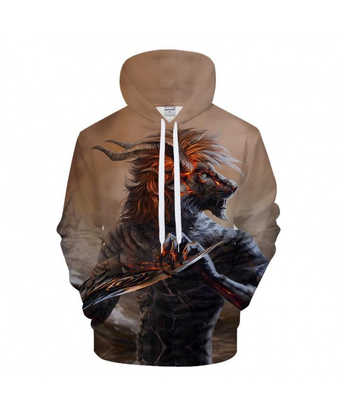 Goku Wolf Hoodies Funny Hoody Men Sweatshirts 3D Pullover Print Tracksuit Autumn Clothing Streatwear Hip Hop DropShip