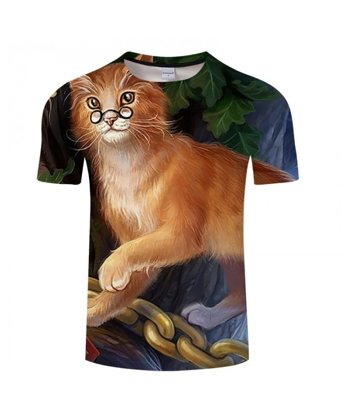 Golden Cat Hair 3D Printed Men tshirt Crossfit Shirt Casual Summer Short Sleeve Men Brand T Shirt Men Round Neck