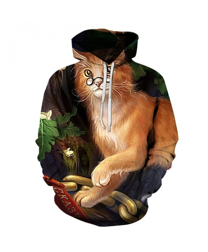 Golden Cat Hair 3D Printed Mens Pullover Sweatshirt Pullover Casual Hoodie Men Streetwear Sweatshirt Clothes Hoodie