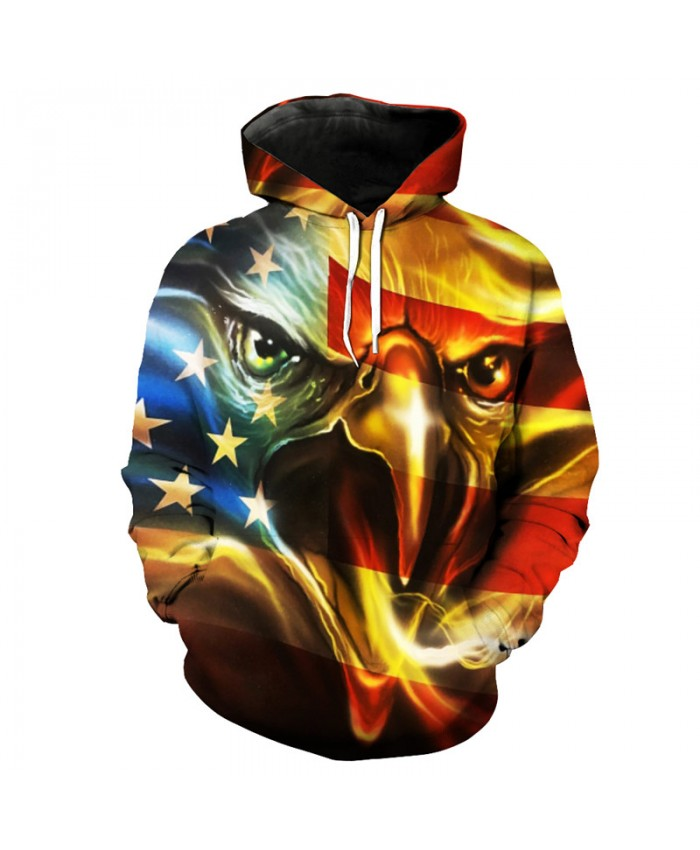 Golden Eagle Fashion Hip-Hop Hooded Sweatshirt Men's Cool Pullover Casual Hoodies Autumn Tracksuit Pullover Hooded Sweatshirt