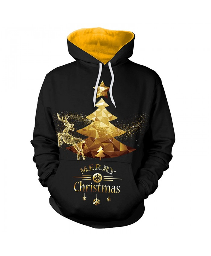 Golden Fawn Christmas Sweater Unisex Men Women Vacation Santa Elf Pullover Funny Sweaters Tops Autumn Winter Clothing