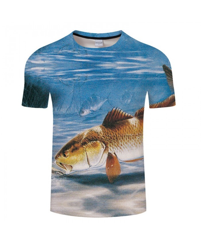 Golden Fish 3D Print T Shirt Men tshirt Summer Casual Slim Men 2019 New Short Sleeve O-neck Tops&Tee Drop Ship