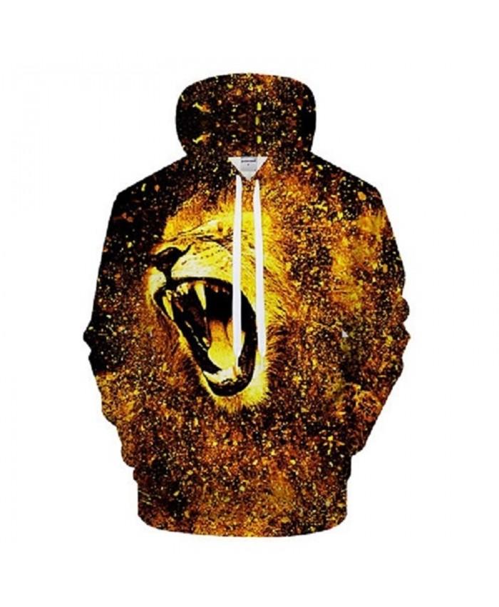 Golden Lion Hoodies Men Sweatshirt 3D Hoody Autumn Tracksuit Printed Hooded Streatwear Pullover Harajuku New DropShip