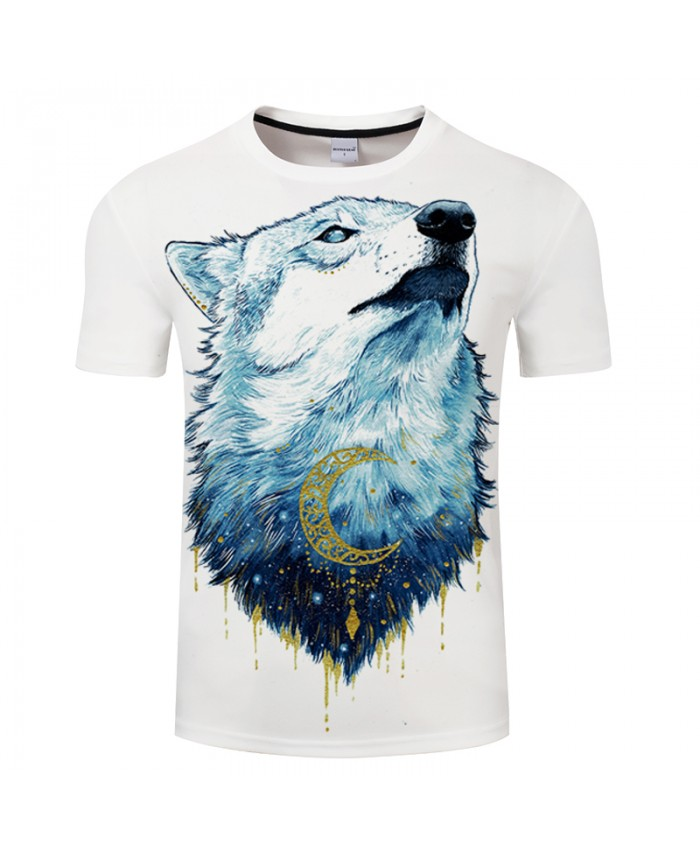 Golden Wolf By 3DCOOLSHOP Girl Arts 3D Animal Print T shirt Men Summer Short Sleeve Tops&Tees Boy Tshirt Streetwear PlusSize New