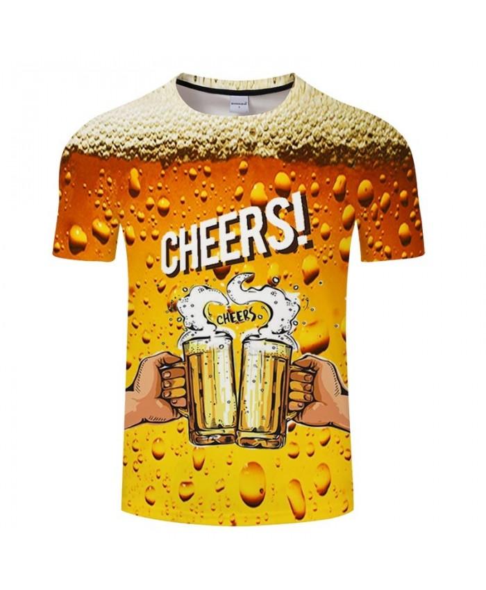 Golden Yellow Bubble Beer 3D Print Men tshirt Crossfit Shirt Casual Summer Short Sleeve Male tshirt Brand Men O-neck