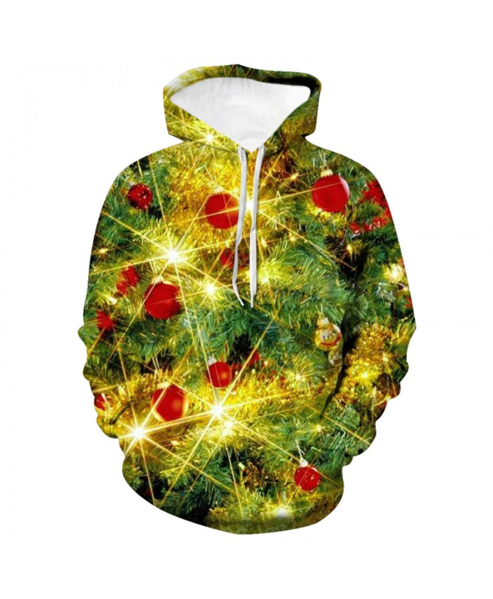 Golden light shines Christmas Day 3D Printed Hoodie Hooded Sweatshirts Merry Christmas Pullover Hoodies