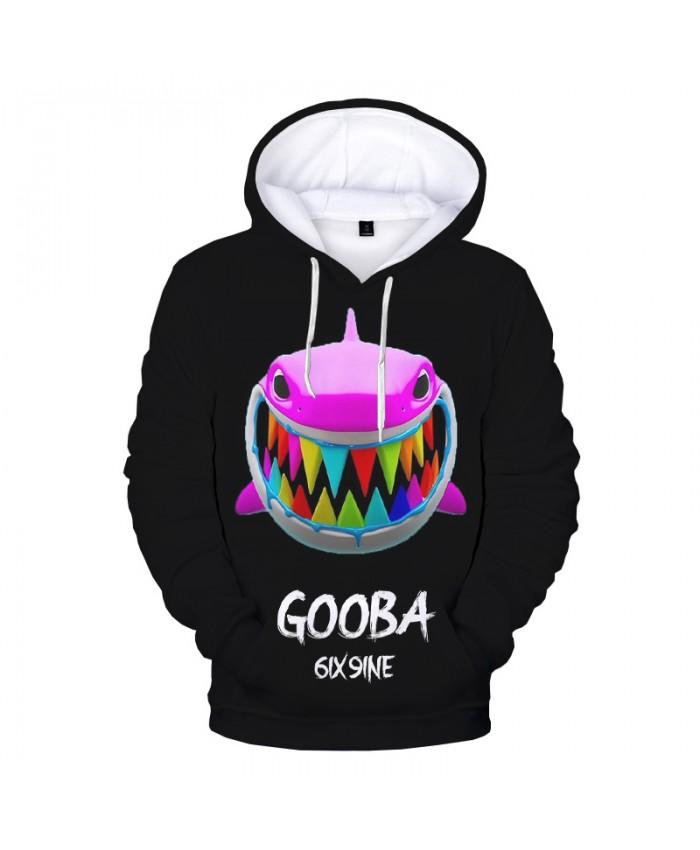 Gooba 3D Printed Hoodie Sweatshirts Hot Rapper Fashion Casual Hip Hop Pullover Harajuku Streetwear Plus Size Black Hoodies