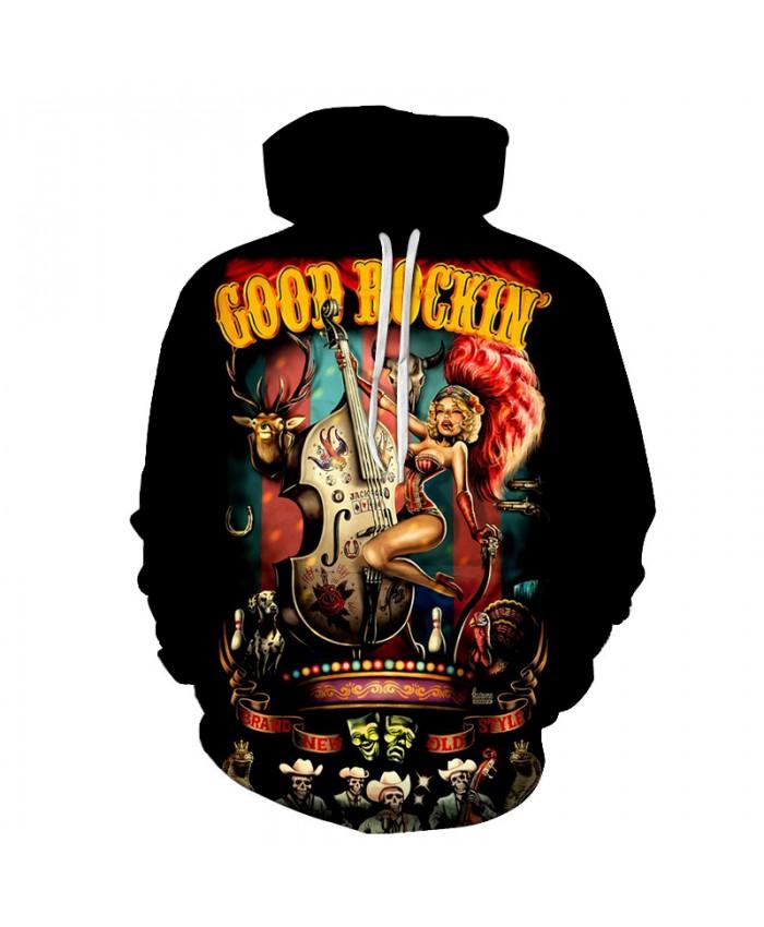 Good Rockin Band 3D Hoodies Men Hoody Harajuku Hoodie Streatwear Sweatshirt Tracksuit Pullover Coat Hip Hop Dropship