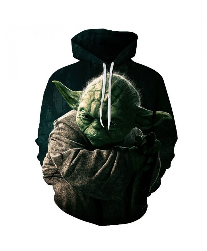 Green Ear Star Wars 3D Printed Mens Pullover Sweatshirt Clothing for Men Custom Autumn Pullover Hoodie Drop Ship