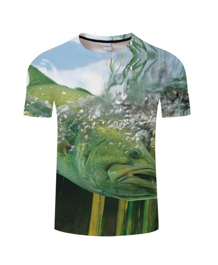 Green Fish 3D Print T Shirt Men tshirt Summer Fitness Casual Slim 2021 New Short Sleeve O-neck Tops&Tee Drop Ship