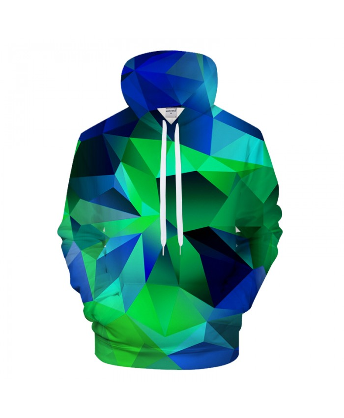 Green Geometry 3D Print Hoodies Men Women Casual Sweatshirt BrandTracksuit Pullover HoodedJacket Groot 2019 Drop Ship