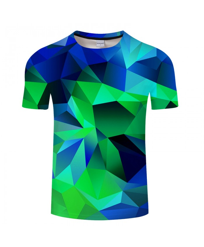 Green Geometry 3D Print t shirt Men Women tshirt Summer Casual Short Sleeve Boy Tops&Tees T-Shirt Streetwear DropShip