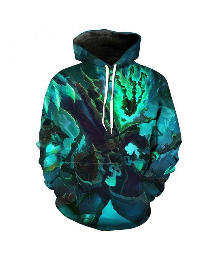 Green Stone Skeleton Samurai Hoodie Fashion Tracksuit Coll Sweatshirts Tracksuit Pullover Hooded Sweatshirt