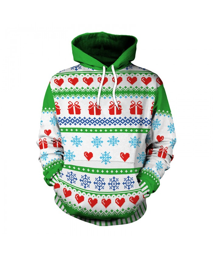 Green and White Christmas Presents Wreath Christmas Sweater Unisex Vacation Santa Elf Pullover Funny Sweaters Tops Autumn Winter Clothing