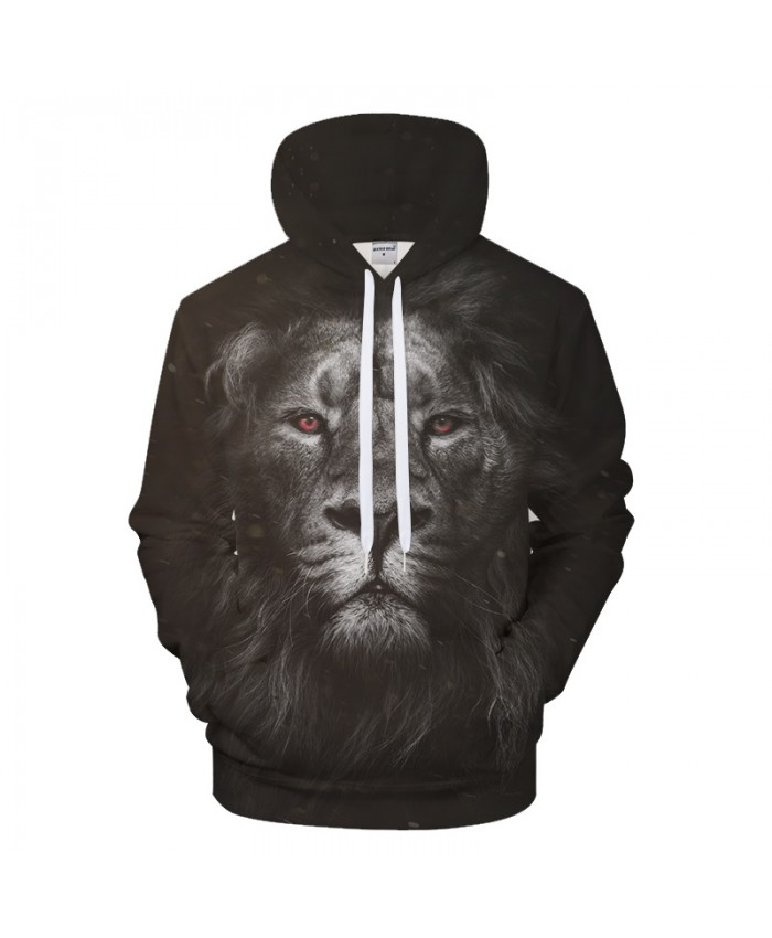 Grey Lion 3D Hoodie Men Hoody Casual Tracksuit Groot Sweatshirt Brand Pullover Streetwear Animal Coat Autumn DropShip