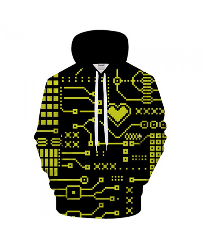 Grid Hoodies Men 3D Hoody Anime Sweatshirt Casual Tracksuit Funny Pullover 6XL Coat Streatwear Hoodie Novelty Dropship