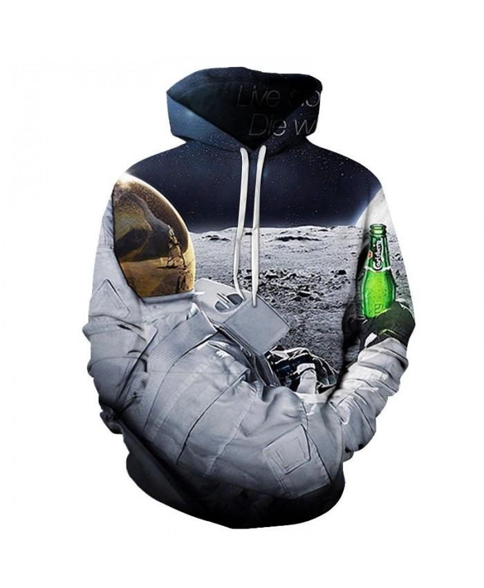Grip The Bottle Beer 3D Printed Men Pullover Sweatshirt Pullover Hoodie Casual Fashion Men Hoodie Long Sleeve
