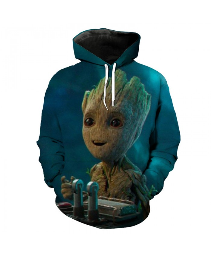 Guardians of the Galaxy Groot Rocket Raccoon Fashion Streetwear 3D Sweatshirt Sportwear