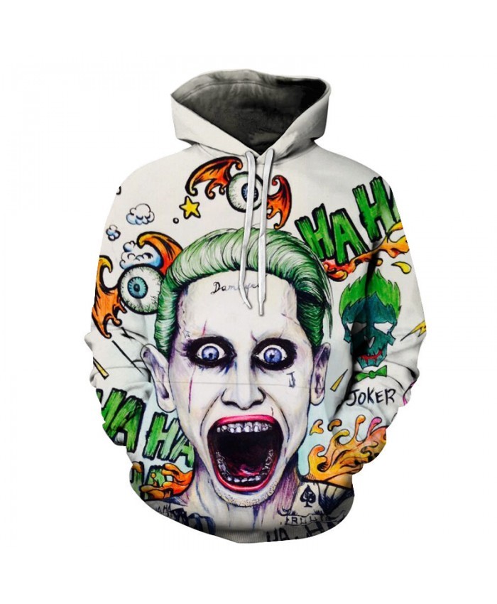 Halley Quinn Joker 3D Hoodies Suicide Squad Sweatshirts Movie Pullover Men Women Cool Streetwear Hip Hop Rock Skate Tracksuits