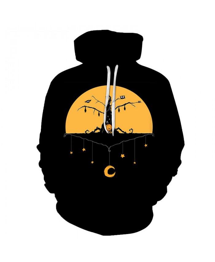 Halloween 3D Print Black Hoodies Men Hoody Harajuku Hoodie Streatwear Sweatshirt Tracksuit Pullover Hip Hop Dropship