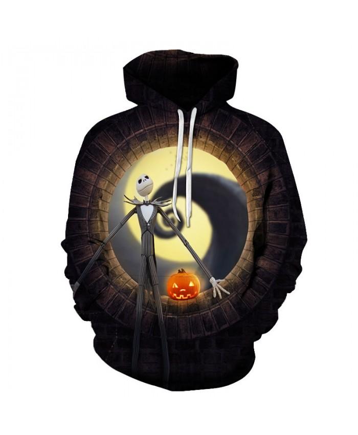 Halloween 3D Print Hoodies Men Hoody Harajuku Hoodie Streatwear Sweatshirt Tracksuit Pullover Coat Hip Hop Dropship