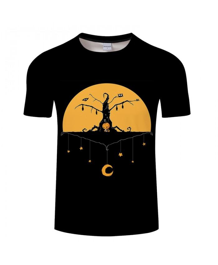 Halloween 3D Print T shirt Black Men T-shirt Brand Top Tees Streetwear Summer Short Sleeve tshirt O-neck Drop Ship