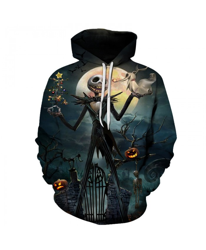 Halloween 3d Hoodies Men Women Sweatshirts Unisex Hoodies Skull Comic Tracksuits Novelty Streetwear Casual Fashion Coats Brand