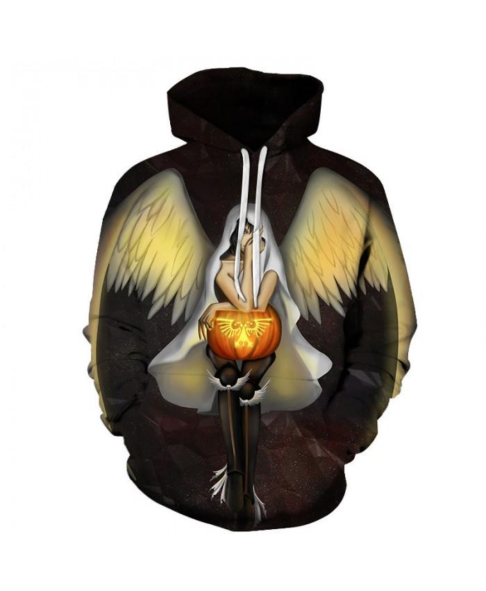 Halloween Angel 3D Print Hoodies Men Hoody Harajuku Hoodie Streatwear Sweatshirt Tracksuit Pullover Hip Hop Dropship