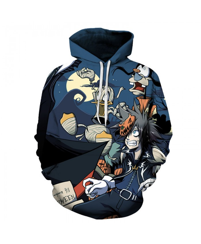 Halloween Cartoon 3D Print Hoodies Men Hoody Harajuku Hoodie Streatwear Sweatshirt Tracksuit Pullover Coat Dropship