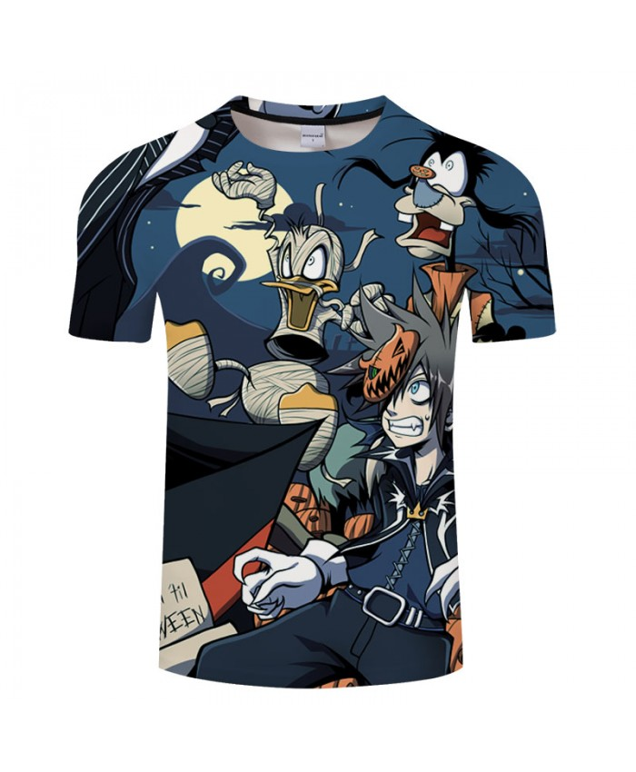 Halloween Cartoon 3D Print T shirt Men T-shirt Brand Tops Tee Streetwear Summer Short Sleeve tshirt O-neck Drop Ship