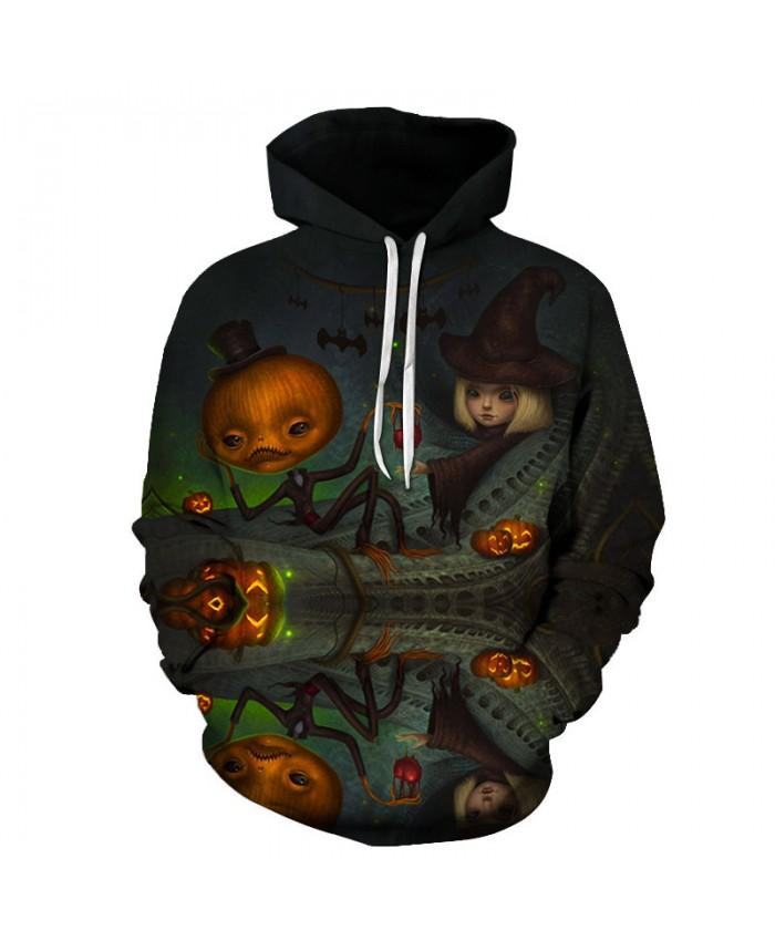 Halloween Eve 3D Hoodies Men Hoody Harajuku Hoodie Streatwear Sweatshirt Tracksuit Pullover Coat Hip Hop Dropship