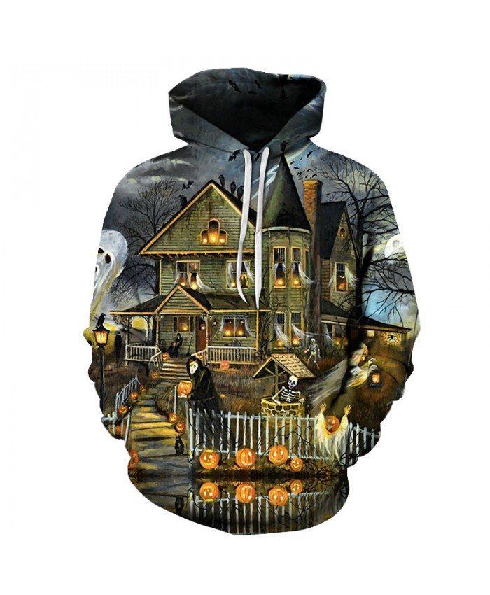 Halloween Family 3D Print Hoodies Men Hoody Harajuku Hoodie Streatwear Sweatshirt Tracksuit Pullover Hip Hop Dropship