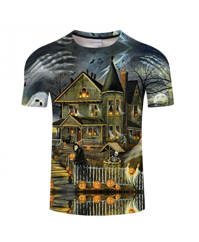 Halloween Family 3D Print T shirts Men T-shirts Brand Top Tee Streetwear Summer Short Sleeve tshirt O-neck Drop Ship