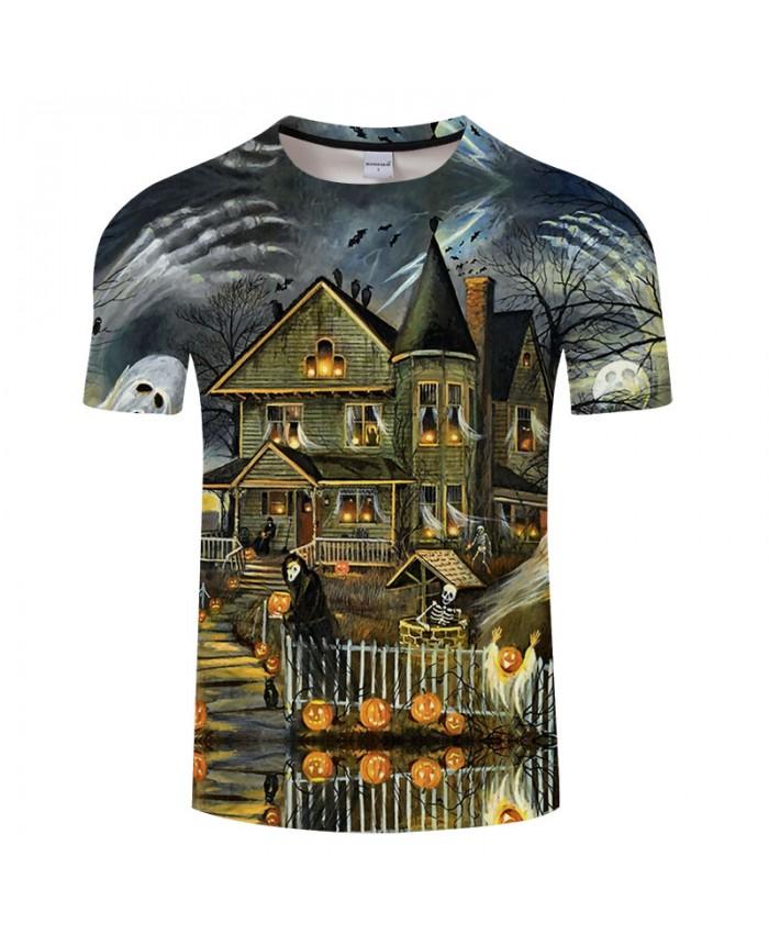Halloween Family 3D Print T shirts Men T-shirts Brand Top Tee Streetwear Summer Short Sleeve tshirt O-neck Drop Ship