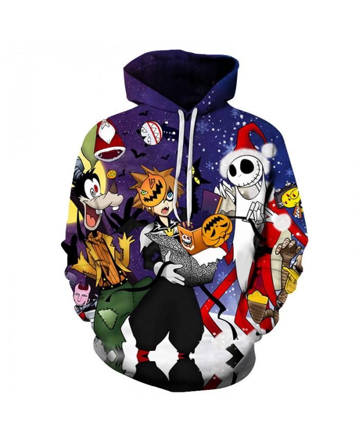 Halloween Festival 3D Hoodies Men Hoody Harajuku Hoodie Streatwear Sweatshirt Tracksuit Pullover Hip Hop Dropship