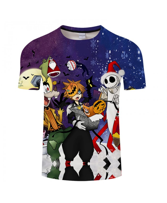 Halloween Festival 3D Print T shirt Men T-shirt Brand Top Tee Streetwear Summer Short Sleeve tshirt O-neck Drop Ship