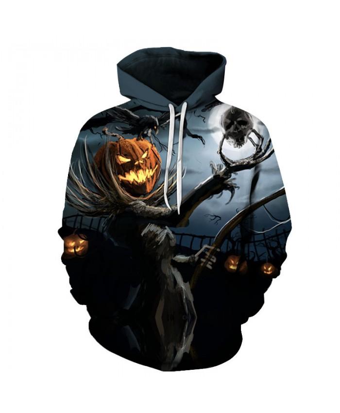 Halloween Ghost 3D Hoodies Men Hoody Harajuku Hoodie Streatwear Sweatshirt Tracksuit Pullover Coat Hip Hop Dropship