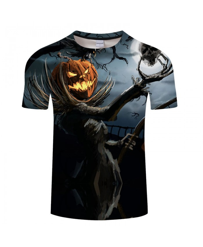 Halloween Ghost 3D Print T shirts Men T-shirts Brand Tops Tee Streetwear Summer Short Sleeve tshirt O-neck Drop Ship
