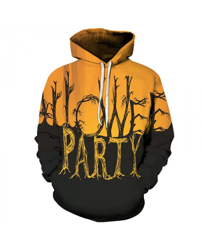 Halloween Letter 3D Print Hoodies Men Hoody Harajuku Hoodie Streatwear Sweatshirt Tracksuit Pullover Hip Hop Dropship