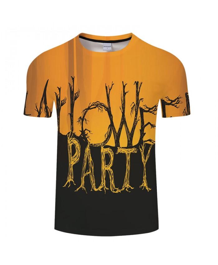 Halloween Letter 3D Print T shirts Men T-shirts Brand Top Tee Streetwear Summer Short Sleeve tshirt O-neck Drop Ship