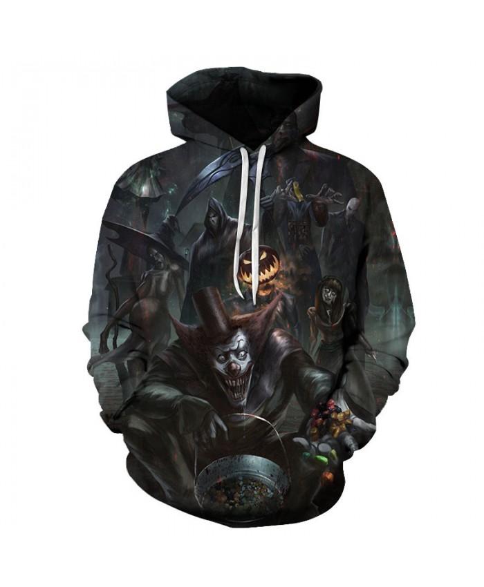 Halloween Night 3D Print Hoodies Men Hoody Harajuku Hoodie Streatwear Sweatshirt Tracksuit Pullover Hip Hop Dropship