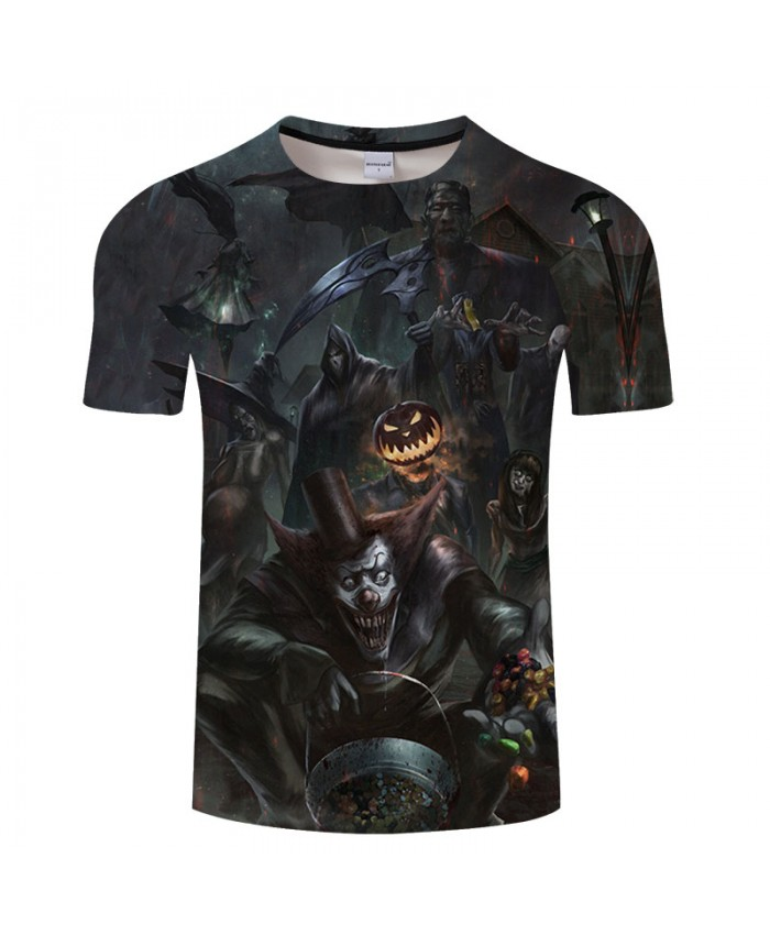 Halloween Night 3D Print T shirts Men T-shirts Brand Tops Tee Streetwear Summer Short Sleeve tshirt O-neck Drop Ship