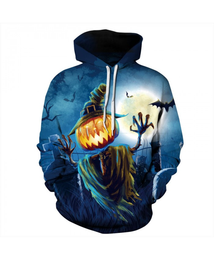 Halloween Style Pumpkin Wack Print Neutral Hoodies Sweatshirts